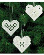 Hardanger Hearts Ornament Kit