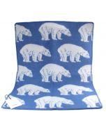 Lillunn Baby Blanket Blue Bear