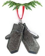 Mittens Pewter Ornament