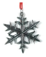 Snowflake Pewter Ornament