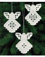 Hardanger Angels Ornament Kit