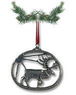 Reindeer Pewter Ornament