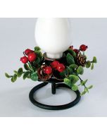 Pine Cone and Berry Taper Candle Ring