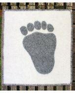 Polar Bear Paw Print Seating Pad