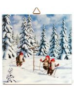 Tomtar Skiers Tile
