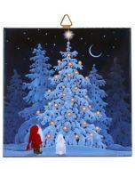Tomte's Christmas Tree Tile