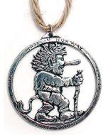 Norwegian Troll Pewter Ornament