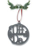 Uff Da Pewter Ornament