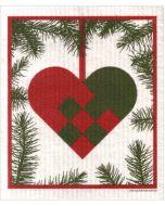 Woven Heart Cellulose Dishcloth