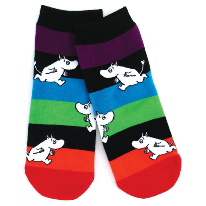 Nordic Moomin Rainbow Kids Quarter socks Great Gift