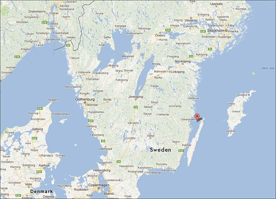 Blå Jungfrun Sweden Map