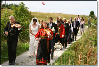 Norwegian Bridal Procession