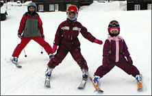 "Norwegian kids ""born with skis on their feet..."""