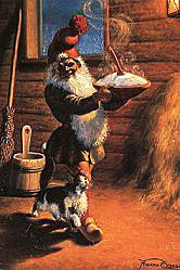 Julnisse with porridge