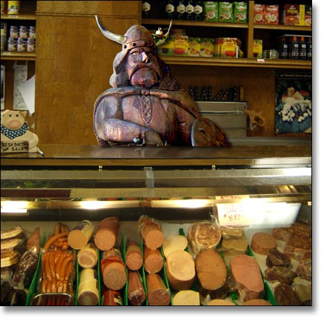 Mr. Viking in the Meat Market