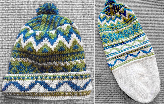 Dubbelmossa-Hat-for-Kid-Knitting-Class