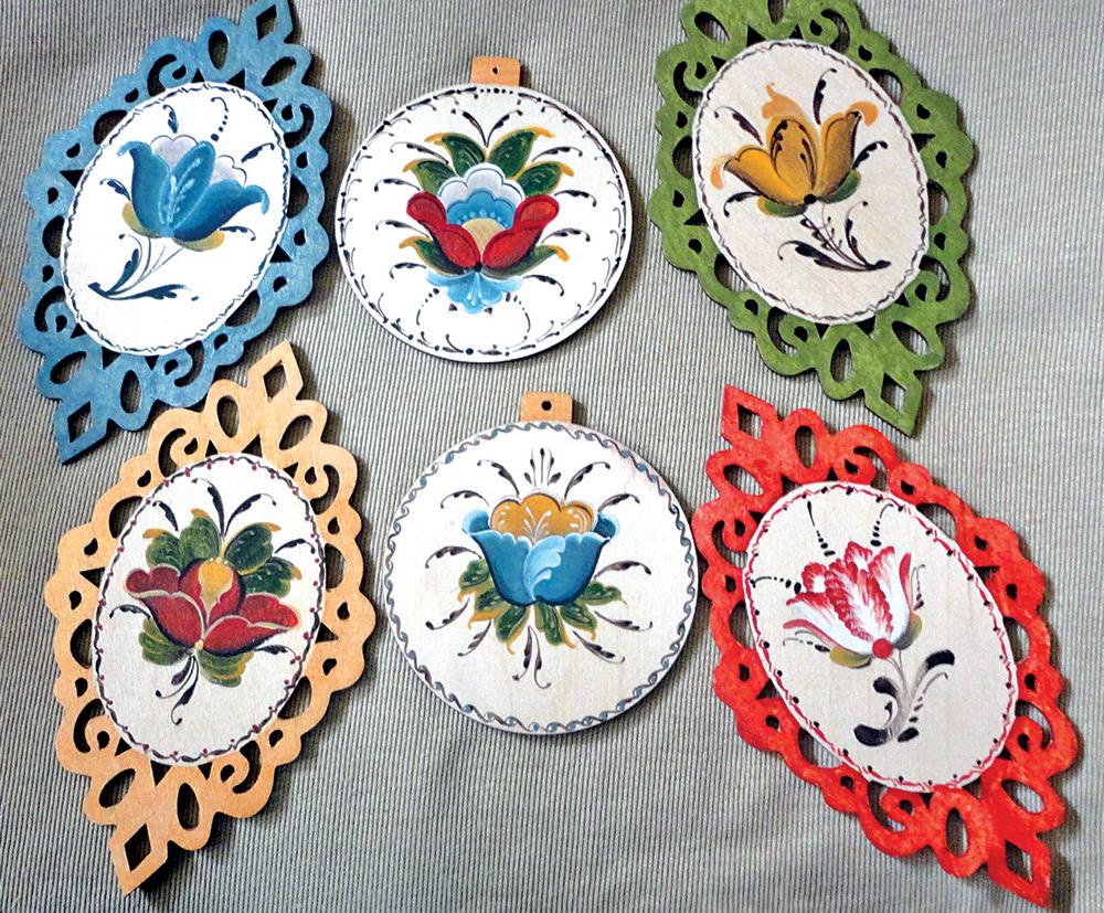 Rosemaling Ornaments