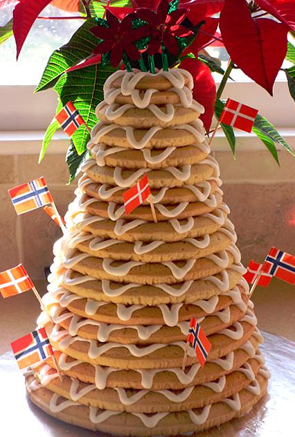 Danish Almond Christmas Cake
