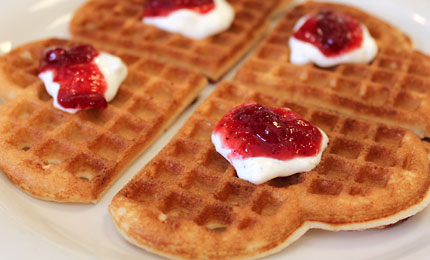 Heart-Shaped-Cardamom-&-Cream-Waffles-Recipe-2